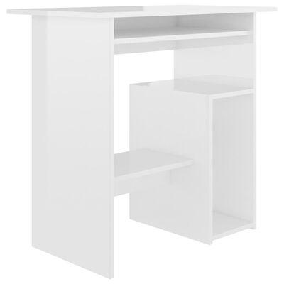 vidaXL Birou, alb extralucios, 80 x 45 x 74 cm, PAL