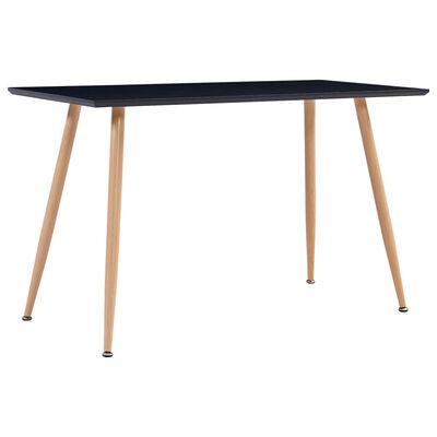vidaXL Set mobilier bucătărie, 7 piese, maro, material textil