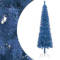 vidaXL Slim Christmas Tree Blue 150 cm