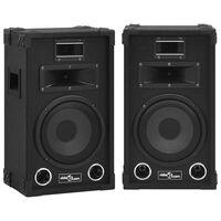 vidaXL Boxe Hifi de scenă pasive profesionale, 2 buc., negru, 800 W