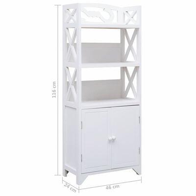 vidaXL Dulap de baie, alb, 46 x 24 x 116 cm, lemn de paulownia