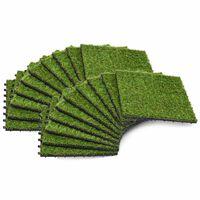 vidaXL Plăci de iarbă artificială, 20 buc, 30x30 cm, Verde