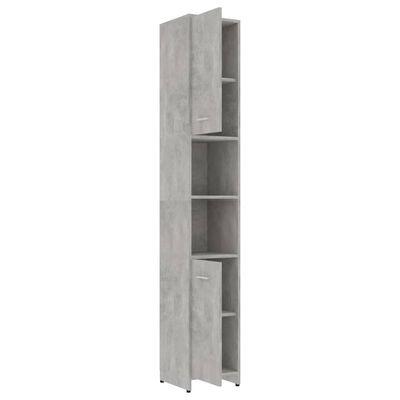 vidaXL Dulap de baie, gri beton, 30 x 30 x 183,5 cm, PAL