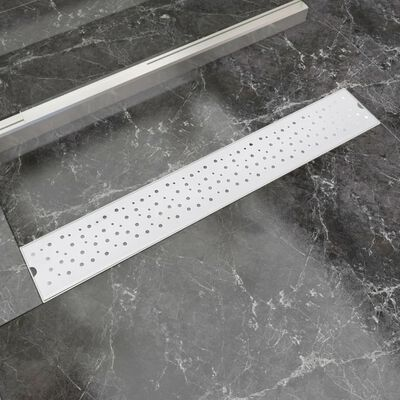 vidaXL Rigolă duș liniară, model bule, oțel inoxidabil, 730 x 140 mm