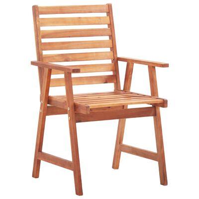 vidaXL Scaune de exterior cu perne, 3 buc., lemn masiv de acacia