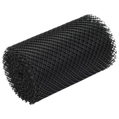 vidaXL Plasă de jgheab cu cleme, 4 buc., 1,08 ㎡, HDPE
