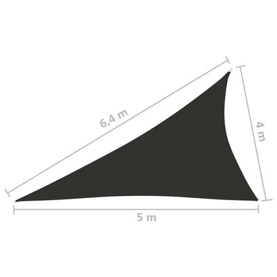 vidaXL Parasolar, antracit, 4x5x6,4 m, țesătură oxford, triunghiular