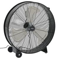 vidaXL Ventilator industrial cu tambur, negru, 77 cm, 180 W