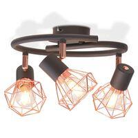vidaXL Lustră cu 3 becuri cu LED filament 12 W