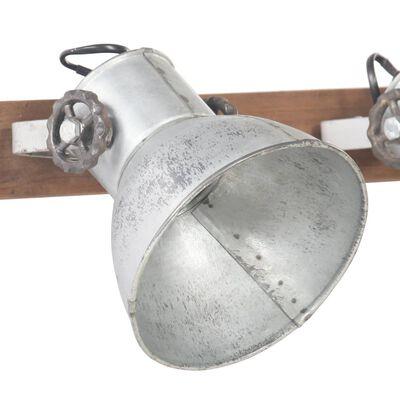 vidaXL Lampă de perete industrială, argintiu, 90 x 25 cm, E27