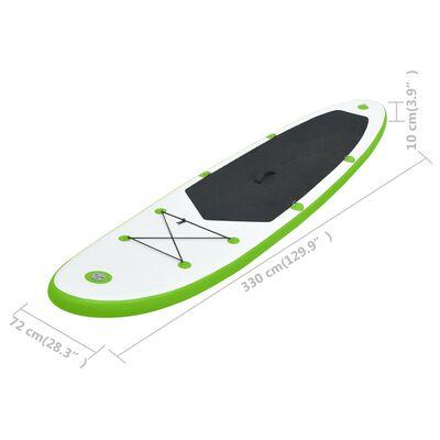 vidaXL Set de placă SUP gonflabilă, verde și alb
