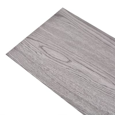 vidaXL Plăci de pardoseală, gri închis, 4,46 m², PVC, 3 mm
