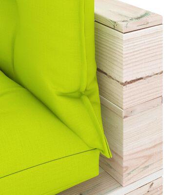 vidaXL Canapea de grădină din paleți, colțar, cu perne, lemn de pin
