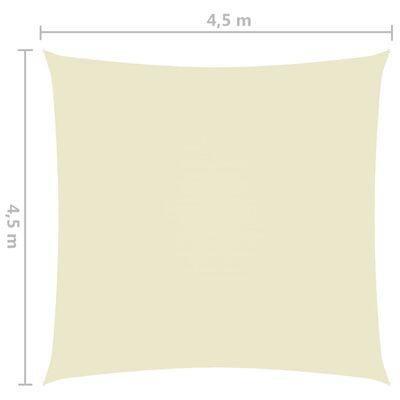vidaXL Pânză parasolar, crem, 4,5x4,5 m, țesătură oxford, pătrat