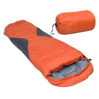 vidaXL Sac de dormit ușor pentru copii tip mumie portocaliu 670 g 10°C