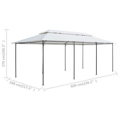vidaXL Pavilion cu perdele, alb, 600 x 298 x 270 cm, 180g/m²