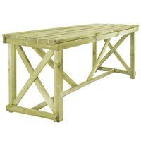 vidaXL Masă de grădină, 160 x 79 x 75 cm, lemn