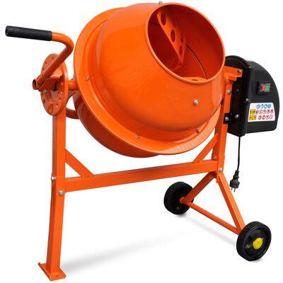 Betonieră electrica 63 L 220 W oțel portocaliu