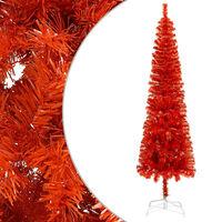 vidaXL Brad de Crăciun artificial subțire, roșu, 240 cm