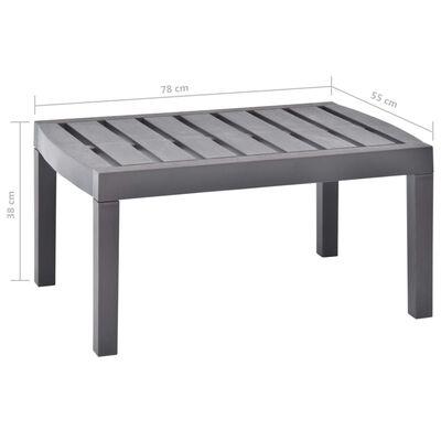 vidaXL Masă de grădină, cafeniu, 78 x 55 x 38 cm, plastic