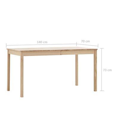 vidaXL Set mobilier de bucătărie, 7 piese, lemn de pin