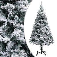 vidaXL Pom de Crăciun artificial cu zăpadă, verde, 150 cm, PVC