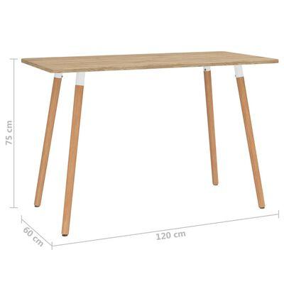 vidaXL Set de masă, 5 piese, verde