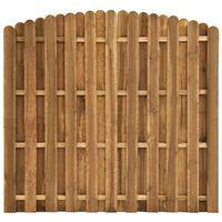 vidaXL Panou de gard cu șipci alternative, 180x(155-170) cm, lemn pin
