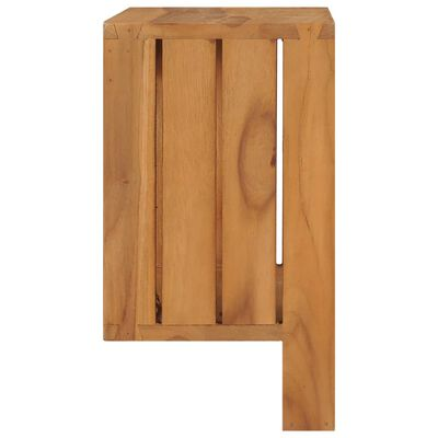 vidaXL Suport prosoape de perete, 35 x 20 x 35 cm, lemn masiv de tec