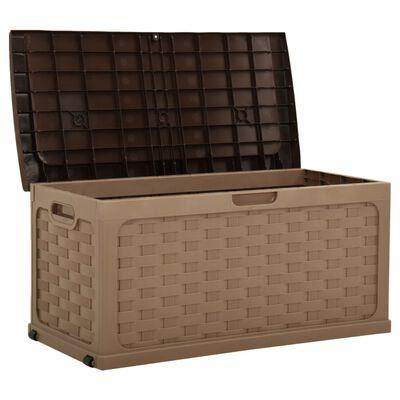 vidaXL Ladă de depozitare pentru grădină 335 L cafeniu-ciocolatiu PP