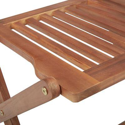 vidaXL Scaune de grădină pliabile cu perne, 8 buc., lemn masiv acacia