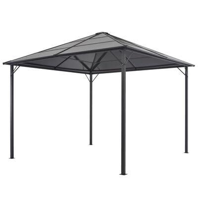 vidaXL Pavilion cu acoperiș, negru, 3 x 3 m, aluminiu
