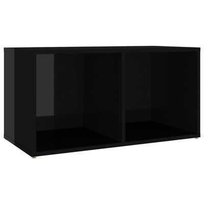 vidaXL Set de dulapuri TV, 5 piese, negru extralucios, PAL