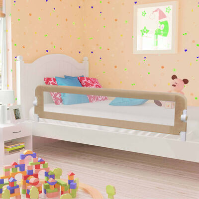 vidaXL Balustradă protecție pat copii, gri taupe, 180x42 cm, poliester