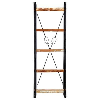vidaXL Bibliotecă cu 5 rafturi, 60 x 30 x 180 cm, lemn masiv reciclat