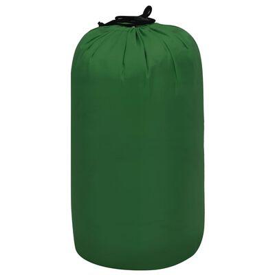 vidaXL Sac de dormit ușor pentru copii tip mumie, verde, 670 g, 10°C