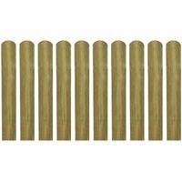 vidaXL Șipci de gard din lemn tratat, 30 buc., 60 cm