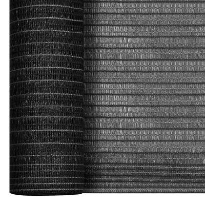 vidaXL Plasă protecție intimitate, antracit, 3,6x10 m, HDPE, 75 g/m²