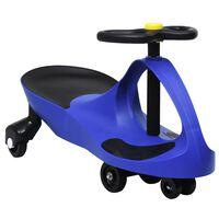vidaXL Mașinuță tip balansoar fără pedale cu claxon, albastru