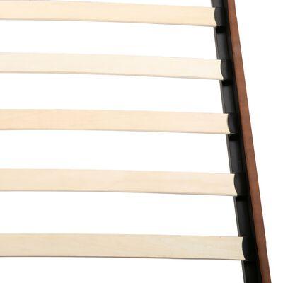 vidaXL Pat cu saltea din spumă cu memorie, maro, 180 x 200 cm, textil