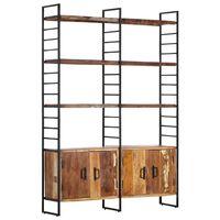 vidaXL Bibliotecă cu 4 niveluri, 124 x 30 x 180 cm lemn masiv reciclat