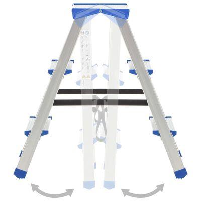 vidaXL Scară dublă cu 3 trepte, 67 cm, aluminiu