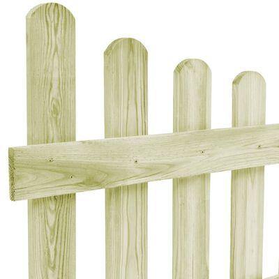 vidaXL Poartă de grădină, 170 x 60 cm, lemn de pin tratat