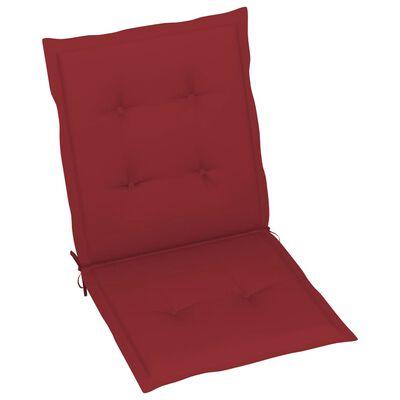 vidaXL Perne scaun de grădină, 2 buc., roșu vin, 100 x 50 x 4 cm