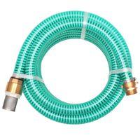 vidaXL Furtun de aspirație, conectori de alamă, 7 m,  25 mm, verde