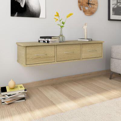 vidaXL Dulap de perete cu sertare, stejar Sonoma, 88x26x18,5 cm, PAL