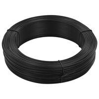 vidaXL Fir de tensionare pentru gard 250 m 0,9/1,4 mm, antracit, oțel
