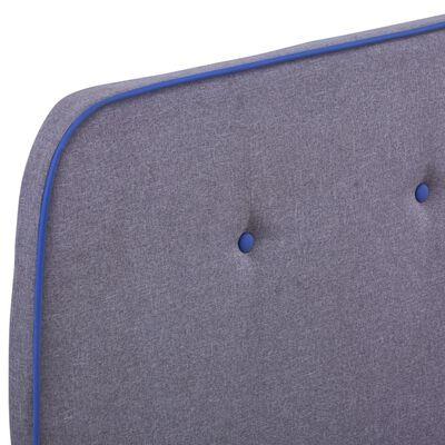 vidaXL Cadru de pat, gri deschis, 120 x 200 cm, material textil