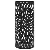 vidaXL Suport pentru umbrelă, model frunze, oțel, negru