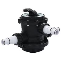 """vidaXL Supapă multiport pentru filtre cu nisip ABS 1,5"""" 6 căi"""